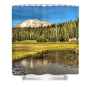Mt Lassen Reflections Shower Curtain