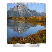 Mt. Moran Reflection Shower Curtain