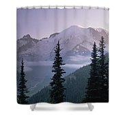 Mt Rainier As Seen At Sunrise Mt Shower Curtain
