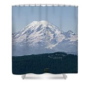 Mt. Rainier Seen From The Yakima Valley Shower Curtain