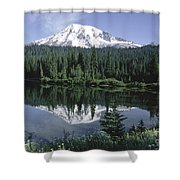 Mt. Ranier Reflection Shower Curtain
