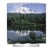 Mt. Ranier Reflection Shower Curtain