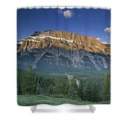 Mt Rundle And The Bow River Shower Curtain
