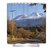 Mt Shasta Autumn Shower Curtain