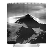Mt Shuksan Monochrome Shower Curtain