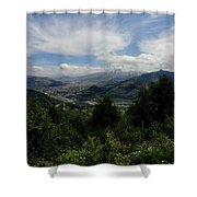 Mt St Helens Lookout Shower Curtain