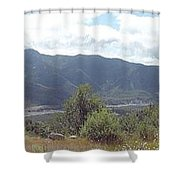 Mt St Helens Panarama Shower Curtain
