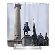 Mt. Vernon Landmarks Shower Curtain