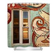 Mu Wall Shower Curtain
