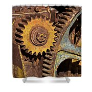 Mud Caked Gears Shower Curtain