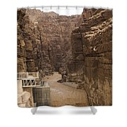Mud Filled Storm Water Scours Shower Curtain