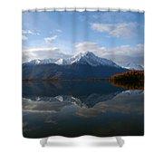 Mud Lake Reflection Shower Curtain
