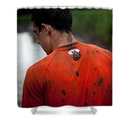 Muddy Workout Shower Curtain