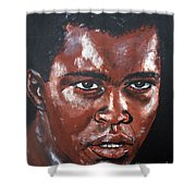 Muhammad Ali Formerly Cassius Clay Shower Curtain