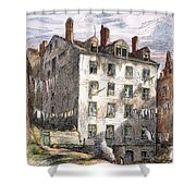 Mulberry Street, Nyc, 1873 Shower Curtain