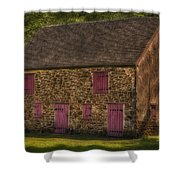Mule Barn  Shower Curtain by Susan Candelario