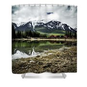 Muleshoe Pond Train Shower Curtain