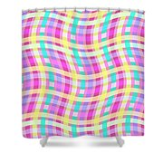 Multi Check Shower Curtain by Louisa Knight
