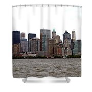 Multi Color Nyc Buildings Shower Curtain
