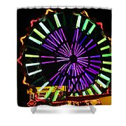 Multi Colored Ferris Wheel Shower Curtain