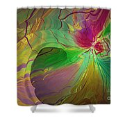 Multi Colored Rainbow Shower Curtain by Deborah Benoit