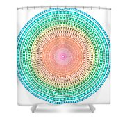 Multicolor Circle Shower Curtain