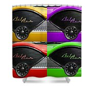 Multicolored Belair Clock Shower Curtain