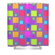 Multicoloured Squares Shower Curtain