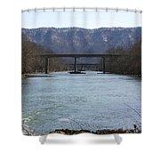 Multiple Bridges Crossing The Holston River Shower Curtain