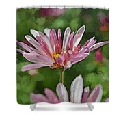 Mum Is In The Pink Digital Painting Shower Curtain