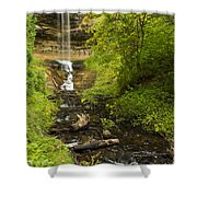 Munising Falls 1 Shower Curtain