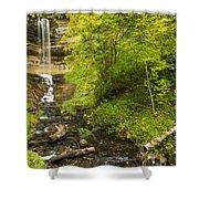 Munising Falls 3 Shower Curtain