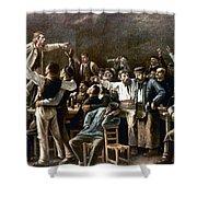 Munkacsy: Strike, 1895 Shower Curtain