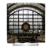 Musee D'orsay's Clock Shower Curtain