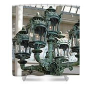 Museum Lights Shower Curtain