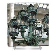 Museum Lights Shower Curtain