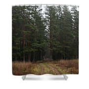 Mushroom Pickers Shower Curtain