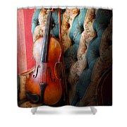 Music - Violin - Musical Elegance  Shower Curtain