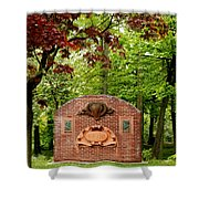 Music Hall And Park Shower Curtain