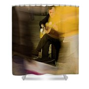 Music In The Flow Of Motion Shower Curtain