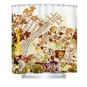 Music With Wine 2 Shower Curtain