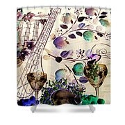 Music With Wine 3 Shower Curtain