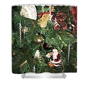 Musical Christmas Tree  Shower Curtain