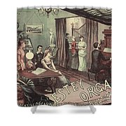 Musical Evening Ad, C1890 Shower Curtain
