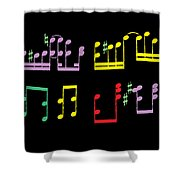 Musical Notes Shower Curtain
