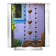Musical Rain Gutters Shower Curtain