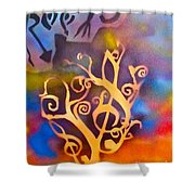 Musical Roots Shower Curtain