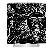 Musical Sunrise - Inverted Shower Curtain