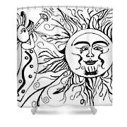 Musical Sunrise Shower Curtain