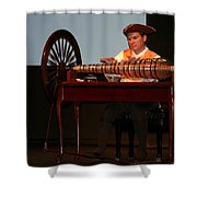 Musician And Glass Armonica Shower Curtain